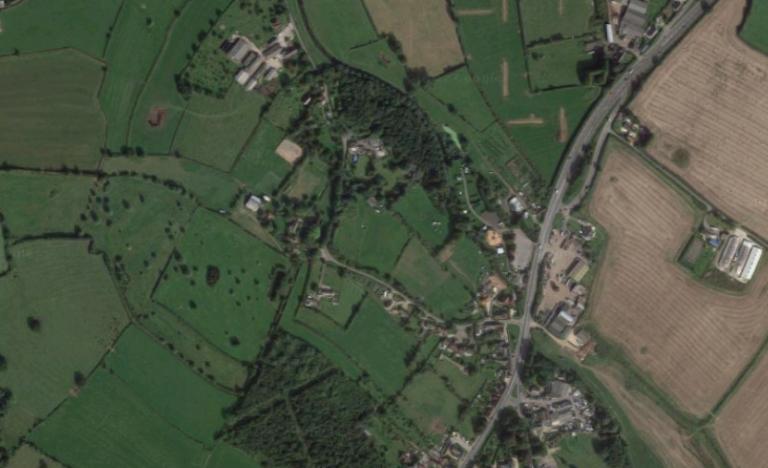 Aerial view of Rosie's Wood